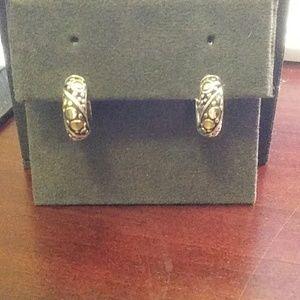John Hardy gold and silver earrings